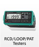 RCD/LOOP/PAT Testers